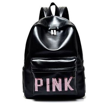One-nice™ PINK Victoria's Secret Fashion Sport School Bag Satchel Travel Bag Backpack