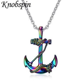High quality stainless steel Necklaces Fashion Anchor Metal Necklace & Pendant Navy Style multicolor for Men