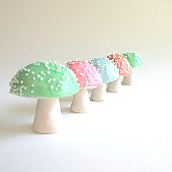 Chocolate Filled Toadstools 7 Pastel / as seen in Chickpea Magazine