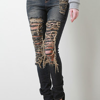 Frayed Manner High Waisted Jeans
