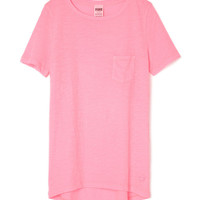 High/Low Pocket Tee - PINK - Victoria's Secret