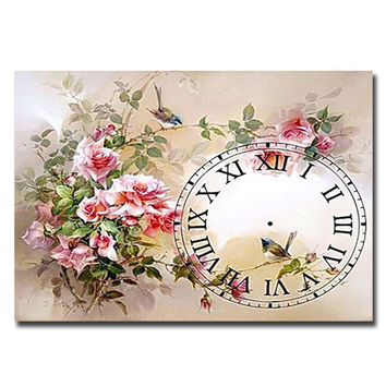 3d 5d Diy Diamond painting flower white Sparrow handmade peony over drilling diamond painting watch Set for embroidery stitch