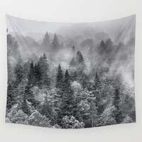 Foggy night Wall Tapestry by Guido Montañés