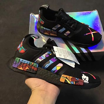 """Adidas"" NMD kaws Casual Running Sport Shoes Sneakers"