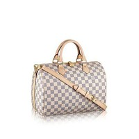 DCCKIH0 Louis Vuitton Damier Azur Canvas Speedy Bandouliere 30 N41373  Louis Vuitton Handbag