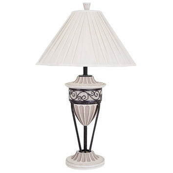 BELLACOR 8023T White and Black 33 Inch Antique Table Lamp