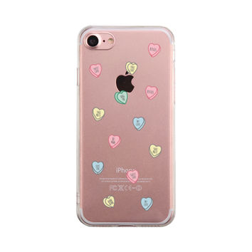 Sweethearts Candies Phone Case Cute Clear Phonecase