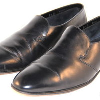 BALLY Continentals Switzerland Dress Loafers Slip on Black Mens Size 11 D
