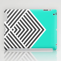 Minty Fresh Chevron iPad Case by Zeke Tucker