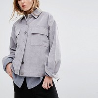 Native Youth Oversized Corduroy Trucker Jacket at asos.com
