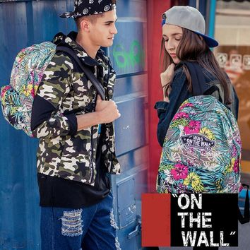 VansFashion Personality printing large capacity backpack bag leisure travel boom Periwinkle 8 style