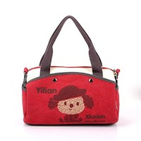 Vere Gloria Woman Fashion Sweet Canvas Shoulder Bag Candy Style Cartoon Personality Messenger Bag for Girls