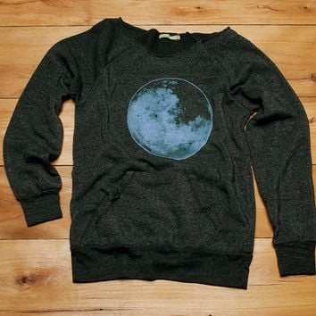 full Moon at midnight Sweater, Moon Shirt, Yoga Pullover, Cozy Sweater