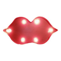 Kiss Lips Symbol Marquee Sign Light