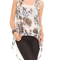 Teenage Runaway Skull Garden Tank Top | Hot Topic