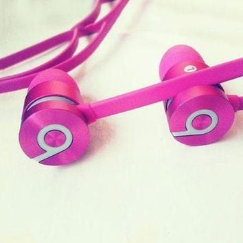 Beats URBEATS 2.0 Fashion New Earphone Suitable for all ages Bass magic phone line noise reduction earplugs Rose red