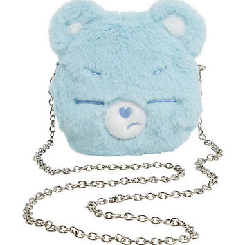 Loungefly Care Bears Grumpy Bear Face Crossbody Bag