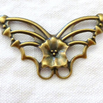 Antique Gold Butterfly Pendants for Jewelry Making, Beading, Craft Projects. On Sale. Supplies on Sale. Reduced Price Supplies. Jewelry