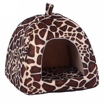 Soft Cat House Leopard