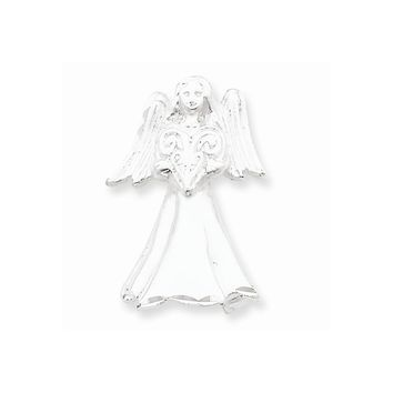 Sterling Silver Satin Finish Angel Pendant