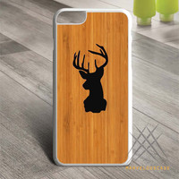 wood deer Custom case for iPhone, iPod and iPad