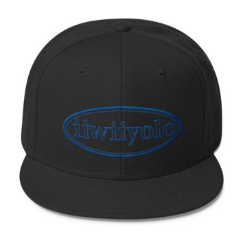Wool Blend Snapback - Royal Blue iiWiiyolo Oval Label