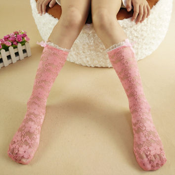 Children Summer Lace Hollow Out Socks [9259022148]