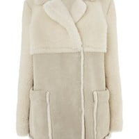 Cream Shearling Jacket
