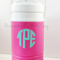 Monogram Water cooler, 1/2 gallon water cooler, personalized water cooler, sports bottle, water cooler, cheerleading, dance, softball, sport