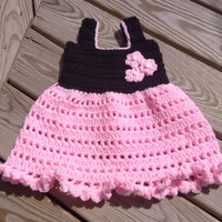 Frilly infant dress crochet pattern