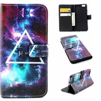 Go Away Galaxy creative case Cover PU Leather Wallet for iPhone & Samsung Galaxy S6  iPhone 6s Plus