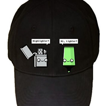 'Highlighter' Lighter Pun - 100% Adjustable Cap Hat