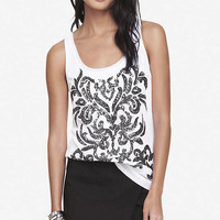 BAROQUE SEQUIN EMBELLISHED TANK from EXPRESS