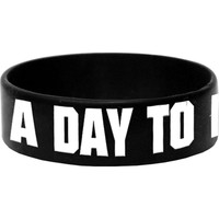A Day To Remember Men's Logo Rubber Bracelet Black