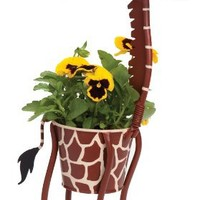 "Dottie the Giraffe - indoor or outdoor (garden) décor plant stands. Holds 4"" grower pot - 17"" inches tall"