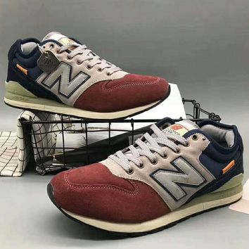 New balance Men Fashion Casual Running Sport Shoes Sneakers Wine red G-XYXY-FTQ