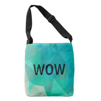 Geometric Triangles All-Over-Print Cross Body Bag