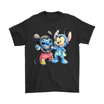 AUGUAU Mickey And Stitch Exchange Costume Friendship For Life Shirts