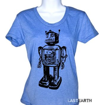 Robot Tech Vintage Science Computer Geek Funny T-Shirt Nerdy Womens Tshirt Mens Science Shirt Novelty Gifts For Him Her Ladies Humor Geek