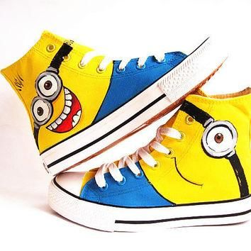 Despicable Me Custom Converse /Converse Sneakers/ Hand-Painted On Converse Shoes /canv