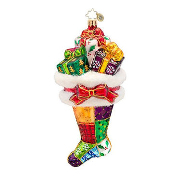Christopher Radko - Presently Patched - Heirloom Collectable Christmas Ornament