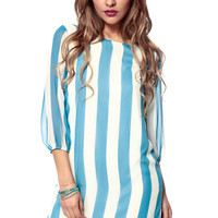 Woven Bow 3/4 Sleeve Dress