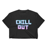 Chill Out Black Crop Top