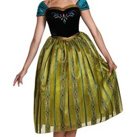 Frozen Anna Coronation Deluxe Adult Costume | Disney Princess Adult Costumes