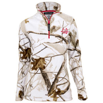 Walmart: Realtree Snow Women's White Half-Zip Fleece Zip Up