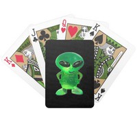 Alien Jewel Bicycle Playing Cards