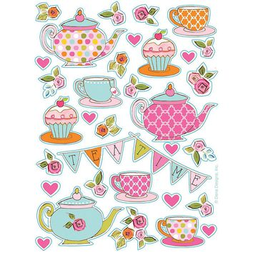 132 Tea Party Stickers