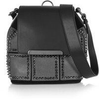 Christian Louboutin - Luckyl studded suede and leather bucket bag