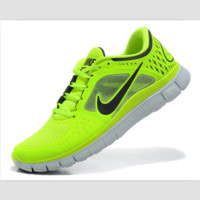 NIKE net surface wear-resistant sneakers casual shoes Green and yellow fluorescence