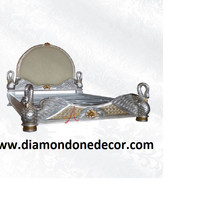 Baroque Louis XVI Rococo French Reproduction Victorian Swan Bed